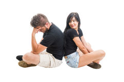 Young couple breaking up concept Royalty Free Stock Images