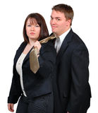 Young couple in business attire Royalty Free Stock Photo