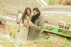 Young couple buying fruits Stock Image