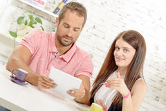Young couple buying on internet with credit card royalty free stock photo