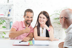 A young couple buys a house Royalty Free Stock Photography