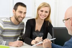 Young couple buys a house Royalty Free Stock Image