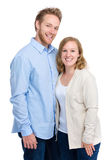 Young couple in casual clothing Royalty Free Stock Photos