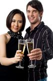 Young Couple Celebrating Royalty Free Stock Images
