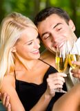 Young couple celebrating Stock Image