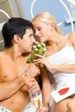 Young couple celebrating Stock Photos