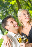 Young couple celebrating Stock Photography