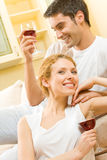 Young couple celebrating Stock Image
