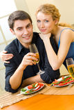 Young couple celebrating Royalty Free Stock Photo