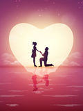 Young couple celebrating Valentine's Day. Stock Photography