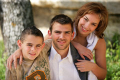 Young couple with child royalty free stock photography