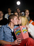 Young couple at the cinema Stock Photography