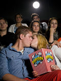Young couple at the cinema Stock Photo
