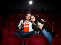 Young couple at the cinema Stock Image