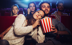 Young couple at the cinema Royalty Free Stock Photography