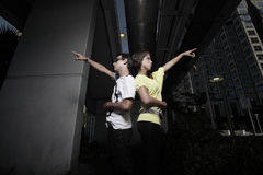 Young couple in the city Stock Images