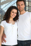 Young couple in the city Royalty Free Stock Image