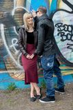 Young Couple in the City in Happy Relationship Stock Images