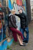 Young Couple in the City Unhappy Relationship Royalty Free Stock Photo