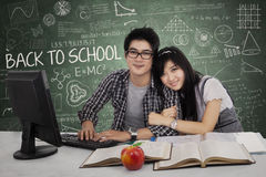 Young couple in class Stock Photography