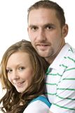 Young couple close up. Young happy couple in close up pose Stock Photography