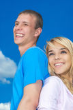 Young couple close-up Stock Image