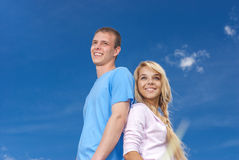 Young couple close-up Royalty Free Stock Photo