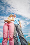 Young couple close-up Royalty Free Stock Photos