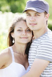 Young couple closeup Stock Photos