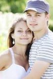 Young couple closeup Stock Photos
