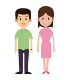Young couple clothes brunette smiling. Vector illustration eps 10 Royalty Free Stock Photography