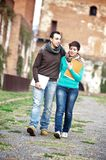 Young Couple at College Royalty Free Stock Photography
