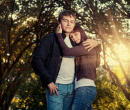 Young couple of college students Stock Images