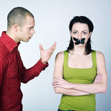 Young couple conflict royalty free stock images