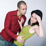 Young couple conflict Stock Photos