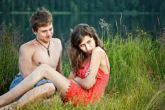 Young couple conflict Stock Photography