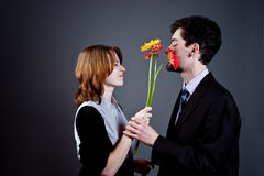 Young couple conflict Royalty Free Stock Image