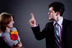 Young couple conflict Stock Image