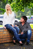 Young couple in conflict Stock Photography