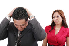 Couple conflict Royalty Free Stock Photo