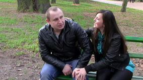 Young couple conflict stock video