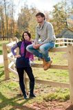 Young couple in the countryside Royalty Free Stock Photography