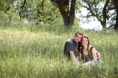 Young couple in countryside Royalty Free Stock Photos