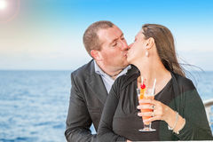 Young couple on cruise Stock Photo