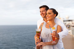 Young couple cruise trip Stock Photography