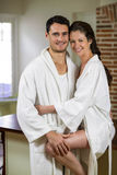 Young couple cuddling each other Stock Image