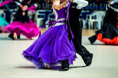Young couple of dancers. To compete in ballroom dancing Stock Photography