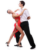 Young couple dances Royalty Free Stock Images