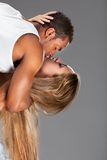 Young couple dances Caribbean Salsa Stock Image