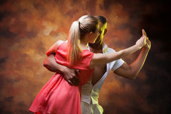 Young couple dances Caribbean Salsa Royalty Free Stock Photo